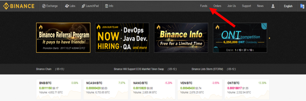 Binance - Funds