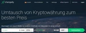 Sell Ethereum via Changelly